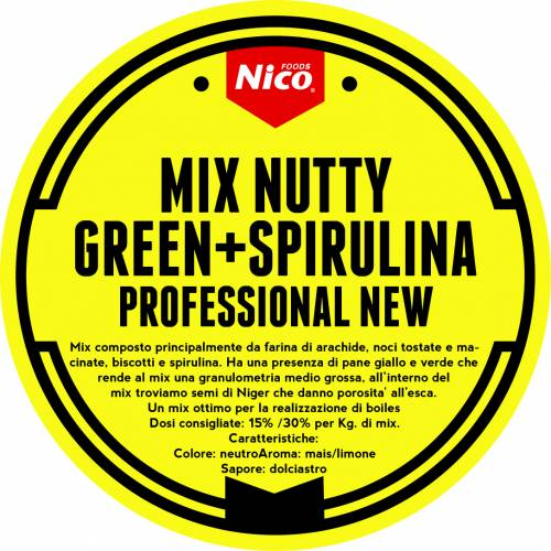 MIX NUTTY GREEN + SPIRULINA PROFESSIONAL NEW