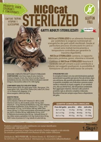 NICOCAT STERILIZED - MANGIME COMPLETO GATTI ADULTI STERILIZZATI