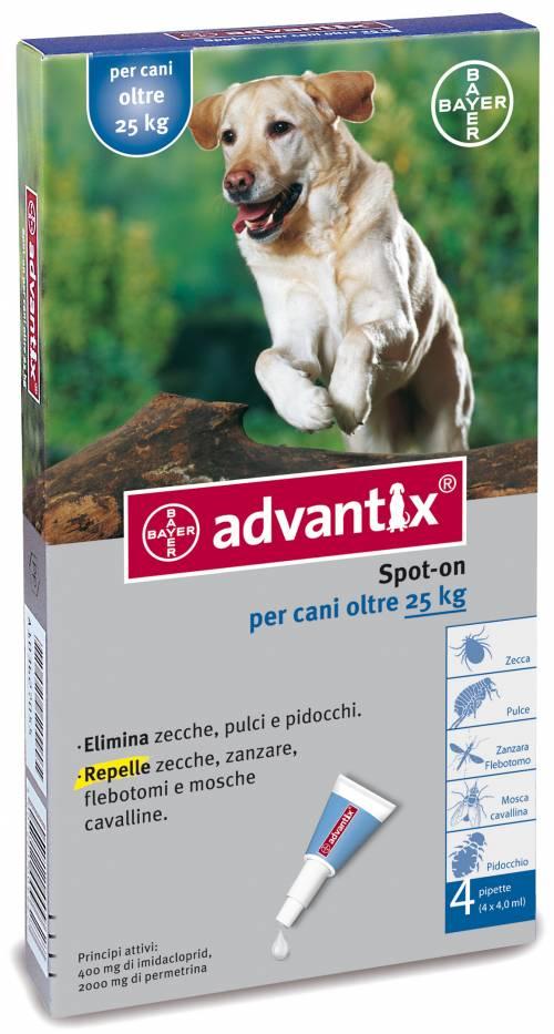 ADVANTIX CANI SPOT-ON PER CANI OLTRE I 25 KG