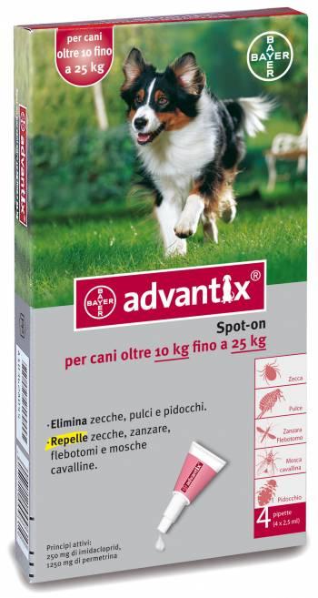 ADVANTIX CANI SPOT-ON PER CANI OLTRE I 10 KG FINO AI 25 KG