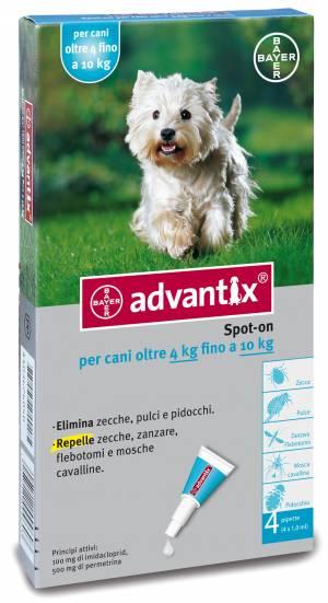 ADVANTIX CANI SPOT-ON PER CANI DAI 4 KG FINO AI 10 KG