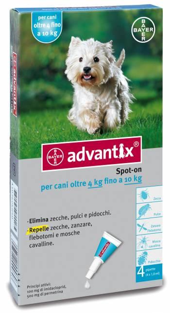ADVANTIX CANI SPOT-ON PER CANI OLTRE I 4 KG FINO AI 10 KG