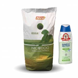 OFFERTA NICO DOG ENERGY SACCO 15 KG + SHAMPOO BAYER 250 ML
