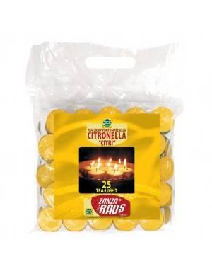 CANDELINE TEALIGHT ALLA CITRONELLA - BUSTA DA 25 PZ